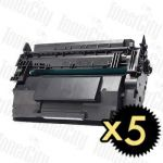 HP 87A (CF287A) Black 5 Pack Compatible Toner Cartridge