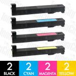 HP 827A (CF300A-CF303A) 8 Pack Compatible Toner Cartridge Combo