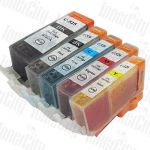 Canon PGI-650XL + CLI-651XL High Yield (5 Pack) Compatible Inkjet Cartridge Combo