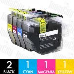 Brother LC-3317 5 Pack Compatible Inkjet Cartridge Combo