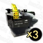 Compatible Brother LC-3319XL Black 3 Pack Inkjet Cartridge