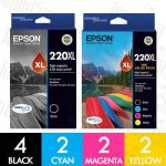 Epson 220XL High Yield 10 Pack Genuine Inkjet Cartridge Combo