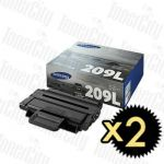 Samsung MLT-D209L SV007A 2 Pack Genuine Toner Cartridge