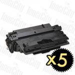 HP 70A (Q7570A) Black 5 Pack Compatible Toner Cartridge