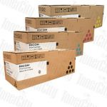 Ricoh 821050-821053 (Aficio SP C820/C821) 4 Pack Genuine Toner Cartridge Combo