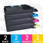 Non-Genuine alternative for TK-884 8 Pack Toner Cartridge Suitable For Kyocera FS-C8500DN