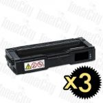 Non-Genuine alternative for Kyocera TK-154K Black 3 Pack Toner Cartridges