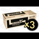 Kyocera TK-544BK Black 3 Pack Genuine Toner Cartridge