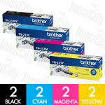 Brother TN-253 8 Pack Genuine Toner Cartridge Combo