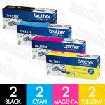 Brother TN-253 + TN-257 8 Pack Genuine Toner Cartridge Combo