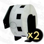 Compatible 2 x Brother DK-11218 White Label Roll 24mm Diameter