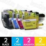 Brother LC-3329XL High Yield 8 Pack Compatible Inkjet Cartridges Combo