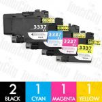 Brother LC-3337 High Yield 5 Pack Compatible Inkjet Cartridge Combo