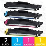 Compatible Brother TN-253 + TN-257 5 Pack Toner Cartridge Combo