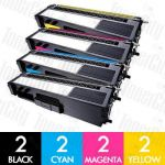 Brother TN-349 8 Pack Compatible Toner Cartridge Combo