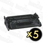 Canon CART-052H Black High Yield 5 Pack Compatible Toner Cartridge