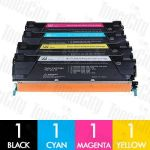 Lexmark X746H1KG - X746A1YG (X746/X748) 4 Pack Compatible Toner Cartridge Combo