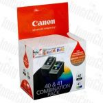 Canon PG40CL41CP PG-40 + CL-41 Twin Pack Genuine Inkjet Cartridges Combo
