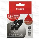 [Twin Pack] Canon PGI-650XLBK Black High Yield Genuine Inkjet Cartridge
