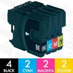 Brother LC-38 10 Pack Compatible Inkjet Cartridge Combo
