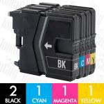 Brother LC-39 5 Pack Compatible Inkjet Cartridge Combo