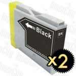 Brother LC-57BK Black 2 Pack Compatible Inkjet Cartridge