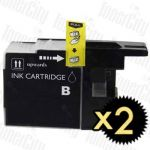 Brother LC-73/LC-77XLBK Black High Yield 2 Pack Compatible Inkjet Cartridge