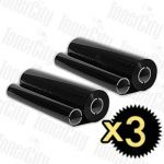 Compatible 3 x Brother PC-202RF (2 rolls/pack) Thermal Printing Ribbons