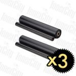 Compatible 3 x Brother PC-402RF (2 rolls/pack) Thermal Printing Ribbons
