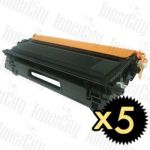 Brother TN-155BK Black High Yield 5 Pack Compatible Toner Cartridge