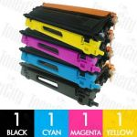 Brother TN-155 High Yield 4 Pack Compatible Toner Cartridge Combo