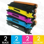 Brother TN-155 High Yield 8 Pack Compatible Toner Cartridge Combo