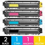 Brother TN-251 + TN-255 (5 Pack) Compatible Toner Cartridge Combo