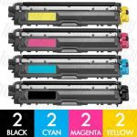 Brother TN-251 + TN-255 (8 Pack) Compatible Toner Cartridge Combo