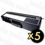 Brother TN-348BK Black 5 Pack Compatible Toner Cartridge