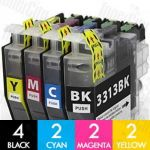 Compatible Brother LC-3313 High Yield of LC-3311 10 Pack Inkjet Cartridge Combo