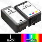 Canon BCI-15BK + BCI-16CL (2 Pack) Compatible Inkjet Cartridge Combo