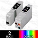 Canon BCI-21 3 Pack Compatible Inkjet Cartridge Combo