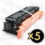 Compatible Canon CART-040BKII Black 5 Pack Toner Cartridge