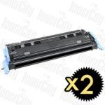 Canon CART-307BK Black 2 Pack Compatible Toner Cartridge