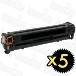 Canon CART-416BK Black 5 Pack Compatible Toner Cartridge
