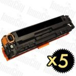 Canon CART-418BK Black 5 Pack Compatible Toner Cartridge