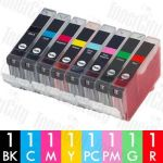 Canon CLI-8 8 Pack Compatible Inkjet Cartridge Combo