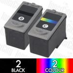 Compatible Canon PG-40 + CL-41 (4 Pack) Inkjet Cartridge Combo