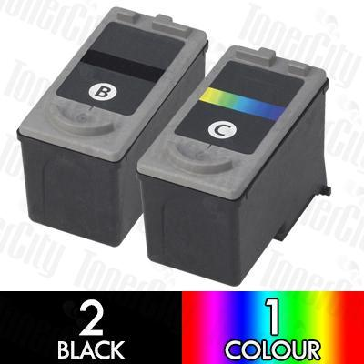 Canon PG-50 + CL-51 High Yield (3 Pack) Compatible Inkjet Cartridge Combo