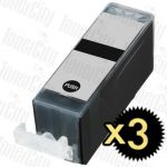 Compatible Canon PGI-520BK Black 3 Pack Inkjet Cartridge