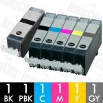 Canon PGI-520 + CLI-521 (6 Pack) Compatible Inkjet Cartridge Combo