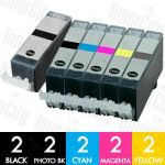 Canon PGI-520 + CLI-521 (10 Pack) Compatible Inkjet Cartridge Combo