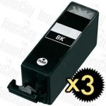 Compatible Canon PGI-525BK Black 3 Pack Inkjet Cartridge