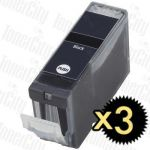 Compatible Canon PGI-5BK Black 3 Pack Inkjet Cartridge